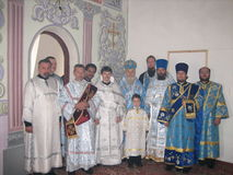 The priests of the Russian Orthodox Church. Stock Photos