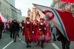 Priests March at the Warsaw Independence Day March Stock Photography