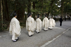 Priests at Toyoukedaijingu Royalty Free Stock Images