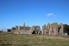 Prieuré de Lindisfarne, île sainte, le Northumberland photo stock
