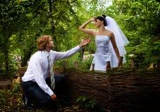 Priez la main et le coeur Photo stock