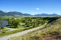 Priez, le Montana Photographie stock libre de droits
