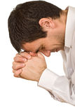 Priez le pasteur Photo libre de droits