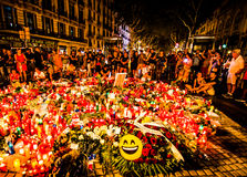 Priez pour Barcelone 03 Photos stock
