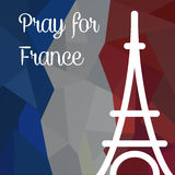 Priez pour des Frances Photos stock