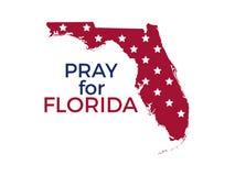 Priez pour la Floride Ouragan Irma, catastrophe naturelle Vecteur Images stock