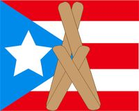 Priez pour le Porto Rico Photographie stock libre de droits