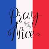 Priez pour Nice Photo stock