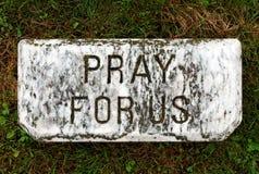 Priez pour nous Photos libres de droits