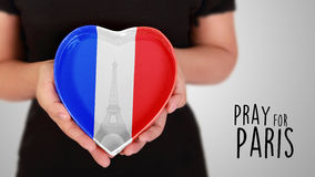 Priez pour Paris Photo stock
