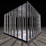 Prigione - cella di prigione Fotografie Stock