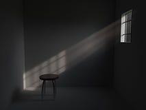 Prigione con le barre sulla finestra Fotografie Stock Libere da Diritti