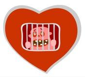 Prigione del cuore fotografia stock libera da diritti