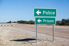 Prigione della polizia Fotografia Stock Libera da Diritti