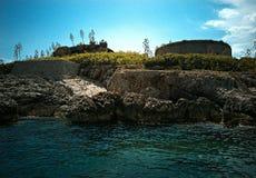 Prigione di Mamula in mezzo al mare immagini stock libere da diritti