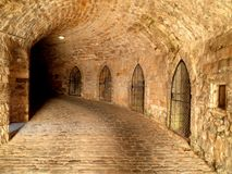 Prigione sotterranea del torrione del castello Fotografie Stock Libere da Diritti