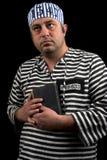Prigioniero con il libro Fotografia Stock Libera da Diritti