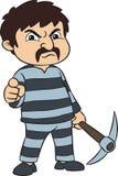 Prigioniero con il piccone Fotografia Stock Libera da Diritti