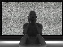 Prigioniero della TV Fotografie Stock Libere da Diritti