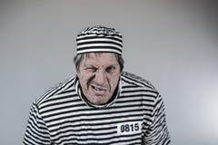 Prigioniero, gangster, divertente Fotografia Stock