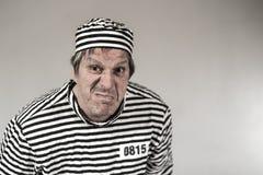 Prigioniero, gangster, divertente Fotografia Stock Libera da Diritti