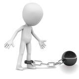 Prigioniero giù legato Fotografia Stock Libera da Diritti