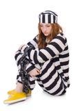 Prigioniero in uniforme a strisce Immagini Stock Libere da Diritti