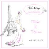 Priglasitelni van de huwelijkskaart Royalty-vrije Stock Foto
