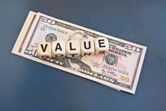 Prijs-kwaliteitverhouding: Dollar Royalty-vrije Stock Afbeeldingen