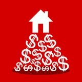 Prijs van duur huis stock illustratie