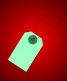 Prijskaartje op rode achtergrond vector illustratie