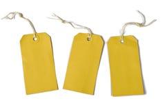 Prijskaartjes die met koord worden gebonden Stock Foto's
