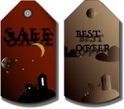 Prijskaartjes, Etiketten voor Halloween Stock Foto's