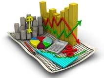 Prijsveranderingen op de onroerende goederenmarkt Het bedrijfs nog-leven vector illustratie