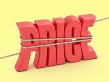 Prijswoord in een kabellijn stock illustratie