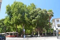 Prijzen Alameda van het Park van Taag in Ronda stock afbeeldingen