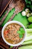 Prik tailandés del nam de la cocina fotografía de archivo libre de regalías