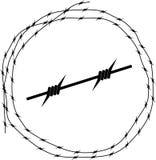 Prikkeldraad - Cirkel Royalty-vrije Stock Foto
