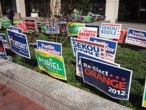 Primárias 2012 posteres da campanha imagens de stock