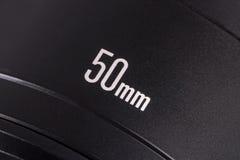 Primär-50mm Foto-Kameraobjektiv Stockfotos