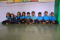 Primär utbildning Indien Fotografering för Bildbyråer