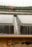 Primärradialsiedler an der AbwasserWasserbehandlung Stockfotografie