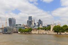 Primärt finansiellt område för London ` s, stad av London, moderna kontorsbyggnader, London, Förenade kungariket Royaltyfria Foton