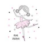 Prima Ballerina Conception extérieure pour des enfants Images libres de droits