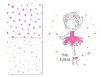 Prima Ballerina Conception extérieure pour des enfants et 2 modèles sans couture Photo stock