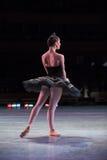 Prima ballerina dancing stock photography