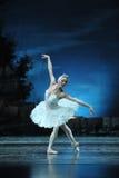 Prima Ballerina Staring an der Reflexion im Wasser Lizenzfreie Stockfotos