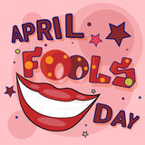 Prima cartolina d'auguri di April Fool Day Happy Holiday Fotografia Stock Libera da Diritti
