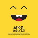Prima cartolina d'auguri sorridente di April Fool Day Happy Holiday del fronte Immagini Stock Libere da Diritti