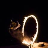 Prima celebrazione di Whistler di notte immagine stock libera da diritti